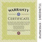 yellow retro warranty template. ... | Shutterstock .eps vector #1483346711