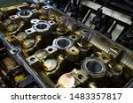 a car engine that must be... | Shutterstock . vector #1483357817