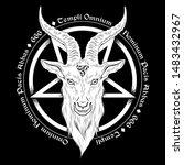 baphomet demon goat head hand... | Shutterstock .eps vector #1483432967