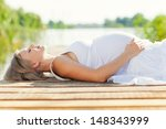 beautiful pregnant woman... | Shutterstock . vector #148343999