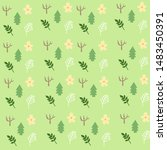seamless pattern tree with... | Shutterstock .eps vector #1483450391