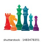 chess colorful figures pieces... | Shutterstock .eps vector #1483478351