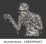 Mummy Illustration  Monochrome...