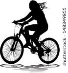 vector silhouette of the cyclist | Shutterstock .eps vector #148349855