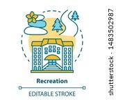 recreation concept icon. urban... | Shutterstock .eps vector #1483502987