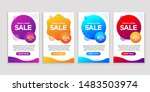 vector modern fluid for big... | Shutterstock .eps vector #1483503974