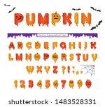 halloween pumpkin font. cute...   Shutterstock .eps vector #1483528331