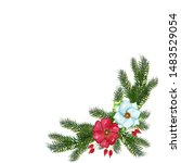watercolor christmas decorative ... | Shutterstock . vector #1483529054