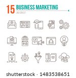 business marketing icons. set...