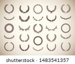 set of different vintage... | Shutterstock .eps vector #1483541357