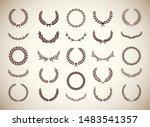set of different vintage... | Shutterstock .eps vector #1483541357