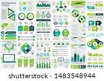bundle infographic elements... | Shutterstock .eps vector #1483548944