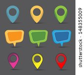 map markers set | Shutterstock .eps vector #148355009