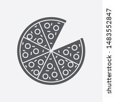 pizza social media icon...