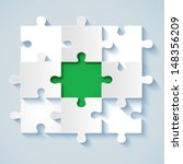 paper puzzle with green the...   Shutterstock .eps vector #148356209