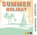 summer background in retro style | Shutterstock .eps vector #148357451