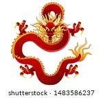traditional chinese dragon ... | Shutterstock .eps vector #1483586237
