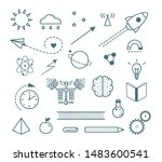 science outline icons set....   Shutterstock .eps vector #1483600541