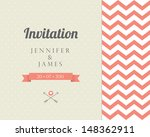vintage card  for invitation or ... | Shutterstock . vector #148362911