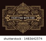 antique label with floral... | Shutterstock .eps vector #1483642574