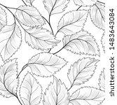 floral seamless pattern. graden ...   Shutterstock . vector #1483643084