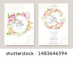 wedding invitation card with... | Shutterstock .eps vector #1483646594