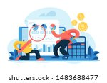 financial and it audit.... | Shutterstock .eps vector #1483688477