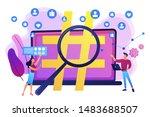 viral marketing  trends... | Shutterstock .eps vector #1483688507
