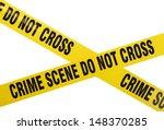 Yellow Plastic Crime Scene Do...