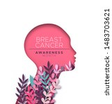 breast cancer awareness month... | Shutterstock .eps vector #1483703621