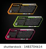 text box circuit template for... | Shutterstock .eps vector #1483704614