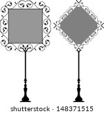 wrought iron signage with lamp  ... | Shutterstock .eps vector #148371515