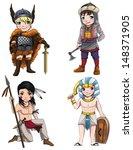 Постер, плакат: Warriors from various culture