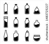 set bottle icon on white... | Shutterstock .eps vector #1483725227
