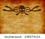 abstract cartoon skull with... | Shutterstock . vector #148374131
