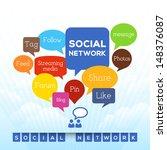social network concept related... | Shutterstock .eps vector #148376087
