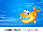 illustration of a sea with a... | Shutterstock . vector #148378751