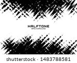 halftone dots gradient pattern... | Shutterstock .eps vector #1483788581