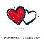 monaco flag in the form of two... | Shutterstock .eps vector #1483812404
