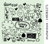 doodles cute | Shutterstock .eps vector #148381271