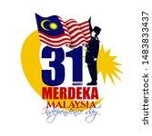 vector illustration. malaysia... | Shutterstock .eps vector #1483833437