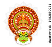 illustration of kathakali... | Shutterstock .eps vector #1483890281