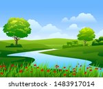 beautiful vector nature... | Shutterstock .eps vector #1483917014