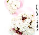 blossom of white flower  glory... | Shutterstock . vector #148395761