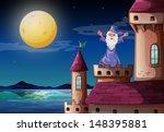 illustration of a wizard...   Shutterstock . vector #148395881