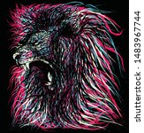 abstract   animal print  art ... | Shutterstock .eps vector #1483967744