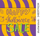 happy halloween sale  banner... | Shutterstock .eps vector #1483974134