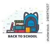 back to school banner. school... | Shutterstock .eps vector #1483974257