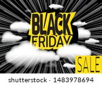inscription black friday on... | Shutterstock .eps vector #1483978694