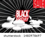 inscription black friday on... | Shutterstock .eps vector #1483978697
